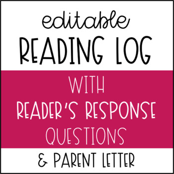 Reading Log with Reader's Responses Editable