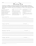 Reading Log with Response Activities