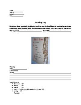 Reading Log with Summarization