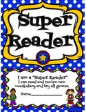 Reading Log, with Vocabulary, Book Review, & Incentive