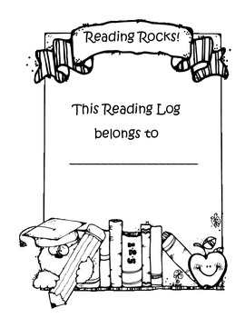 Reading Log with cover