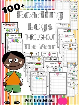 100+ Reading Logs for the ENTIRE YEAR * Document Guided Reading