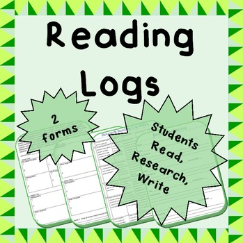 Reading Logs - 2 templates; middle/high school