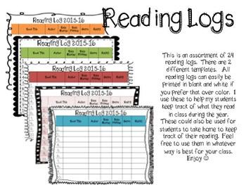 2016-17 Reading Logs