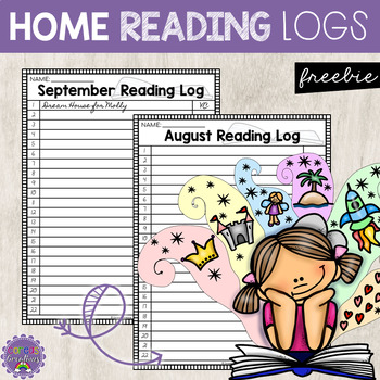 Daily Home Reading Logs {FREE}