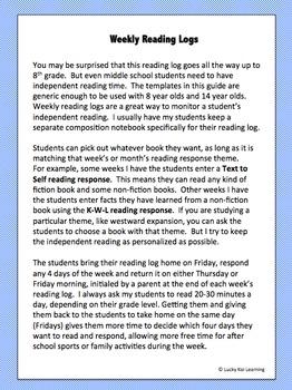 Reading Logs, Gr. 3-8
