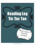 Tic Tac Toe Reading Logs