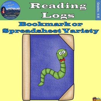 Reading Logs - Bookmark & Spreadsheet Variety