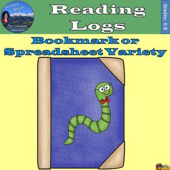 Reading Logs - Bookmark & Spreadsheet Variety