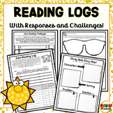 Reading Logs, Challenges, and Higher Order Thinking Responses for June