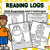 Summer Reading Logs | Reading Responses | Reading Challenge