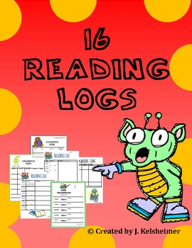 Reading Logs - Choose from 16!