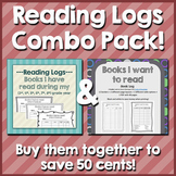 Reading Logs Combo Pack {Books I have read & Books I want