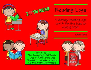 Reading Logs: Daily and Monthly Recording Sheets Themed ELA