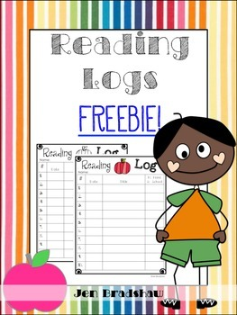 Reading Logs ~ FREEBIE ~ Color & BL / WH ~ Apple Theme ~ Guided Reading