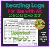 Reading Logs For Use with Reading Tracking Program AR