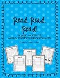 Reading Logs & Homework Sheets for Kindergarten - Full Year's Worth