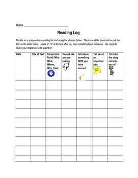 Reading Logs (Level A-C)