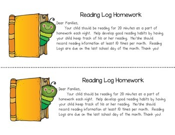 Reading Logs Month by Month for Primary Kids