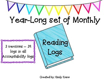 Reading Logs - Monthly! Accountability logs