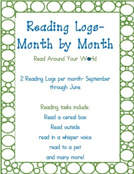 Reading Logs- Monthly Themed
