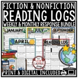 Independent Reading Logs for Homework- Reading Response Literacy Center Activity