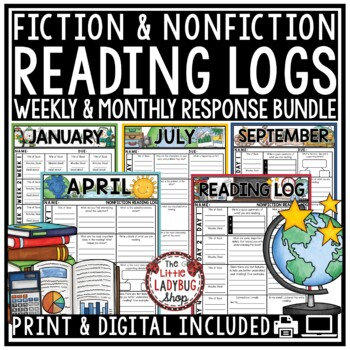 Digital Reading Logs for Homework: Fiction & Nonfiction Reading Strategies