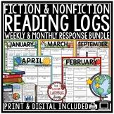 Digital Weekly Reading Logs Homework Fiction, Nonfiction R
