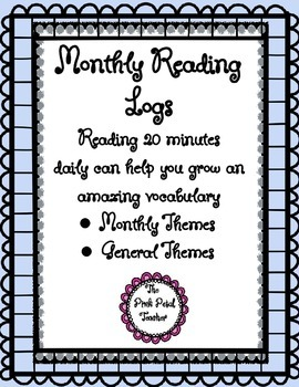 Reading Logs - Monthly themes - General Themes
