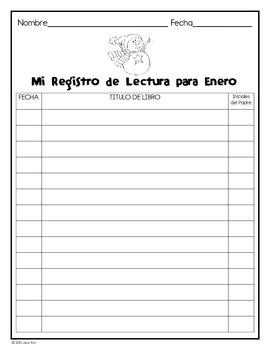 Reading Logs & More! (Spanish Version) Registras de la Lectura y Más!