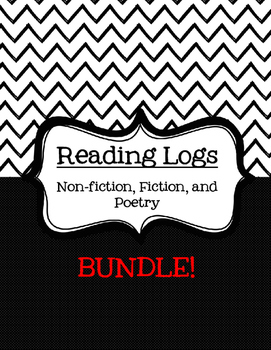 Reading Logs--Non-Fiction, Fiction, Poetry BUNDLE