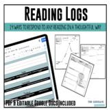 Reading Logs {Print and Google Digital Resource}