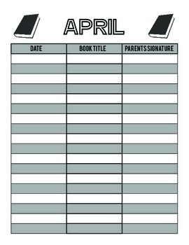Reading Logs - Printable Monthly Reading Logs