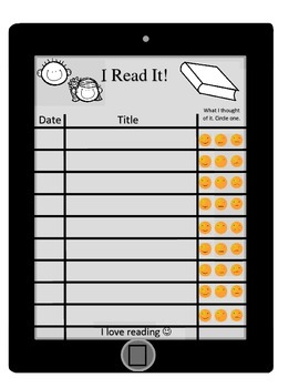Reading Logs--Simple Records for Students