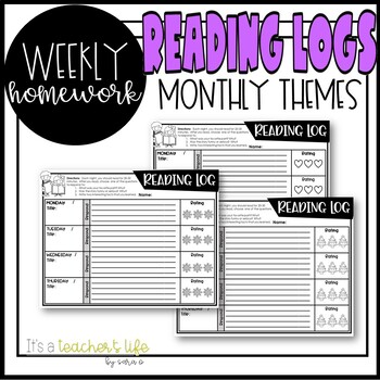 Reading Logs (Weekly)