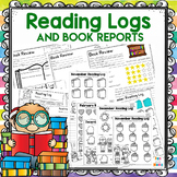 Reading Logs With Parent Signatures + Without, Color In Books +Book Review Pages