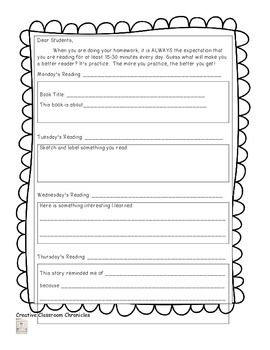 Reading Logs and Frames for Responding to Text