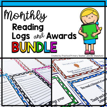 Reading Logs and Monthly Awards Bundle