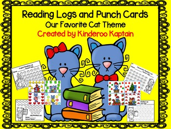 Reading Logs and Punch Cards with OUr Favorite Cat Theme