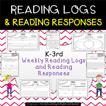 Reading Logs and Reading Response Sheets - Grades K-3 - Good as Reading Homework