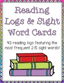 Reading Logs and Sight Word Cards