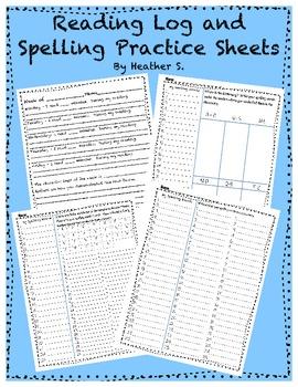 Reading Logs and Spelling Homework