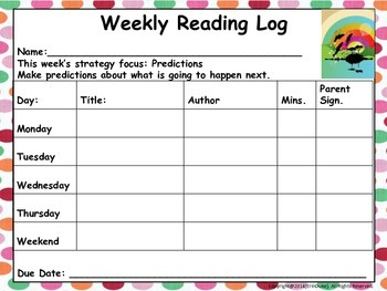 Reading Logs and Strategy Posters