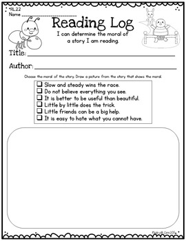 Reading Logs for 2nd Graders