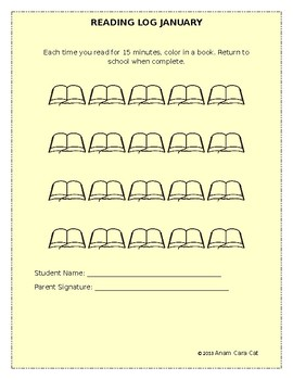 Reading Logs for Every Month of the Year! Fun Graphics | Editable | Elementary