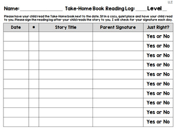 Reading Logs for Green and Blue LLI Kits BUNDLE (1st Edition)
