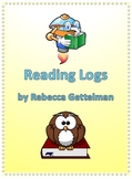 Eight Reading Logs for Independent Reading--Color and Blac