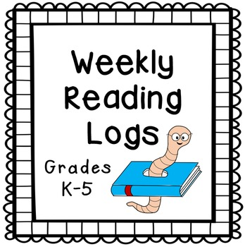 Free Weekly Reading Logs for K-5