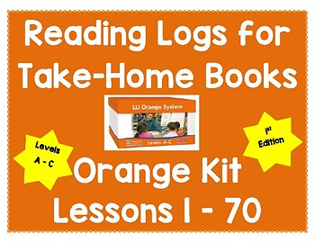 Reading Logs for Lessons 1-70 Orange LLI Kit (1st Edition)