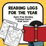 Reading Logs for Preschool and Kindergarten